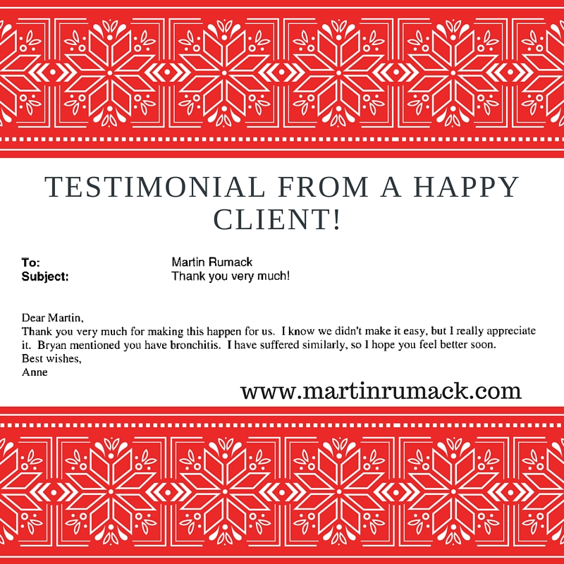 Testimonial from a Happy Client!