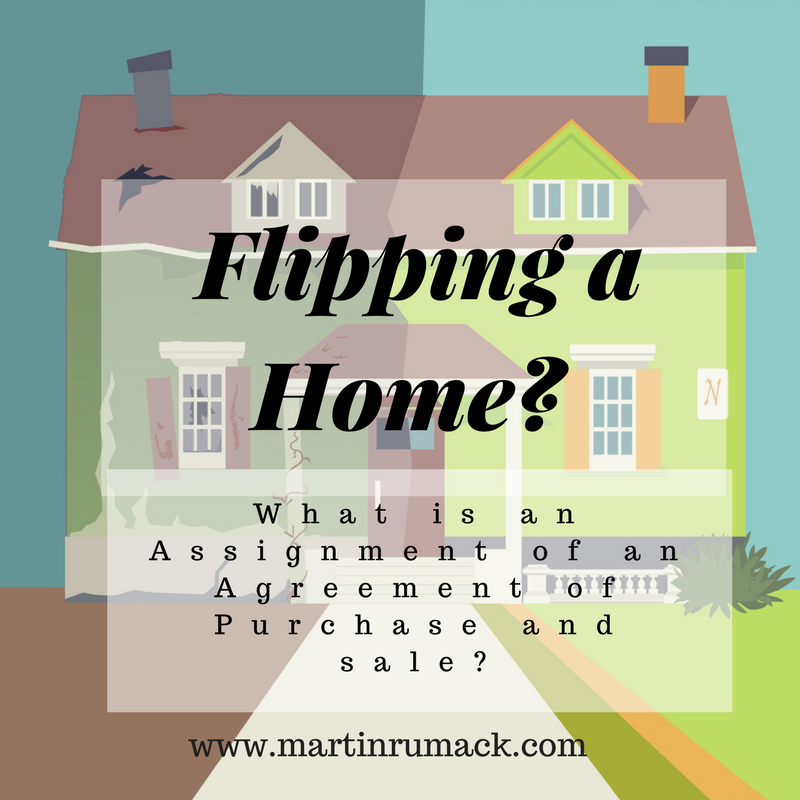 Assigning An Agreement Of Purchase And Sale