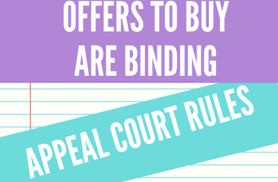 Unconditional offers to Buy are Binding, Appeal Court Rules